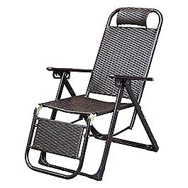Chaise en Osier Pliante Pliante pour terrasse de Plage extérieure légère et Durable Chaise Longue en Osier en rotin…