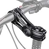 WHCL Tallo Bicicleta MTB, Tallo de Bicicleta Ajustable 0 a 85 Grados, Tallo bifurcación Bicicleta montaña 31,8 mm / 25.4mm, Tallo Manillar Corto para la mayoría Las Bicicletas,90MM