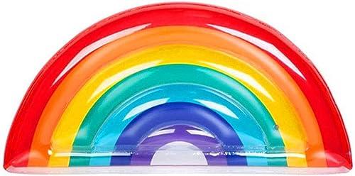 Dick, PVC, Aufblasbare Schwimmreihe, Schwimmsitz, Regenbogenform, Geeignet Für Partys, Erwachsene, Kinder, 180X90cm, Urlaub Genie , Strand, Poolparty,