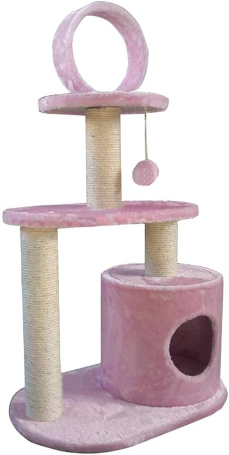 MAN Cat Climbing Frame Small Cat Tree Cat Jumping Table Plush Cloth