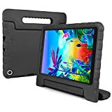 REGOKI Case for LG G Pad 5 10.1, Shockproof Lightweight Convertible Handle Stand Kid-Proof Protection Cover Compatible with LG G Pad5 LM-T600 / LM-T605 10.1-Inch Tablet 2019 Released (Black)