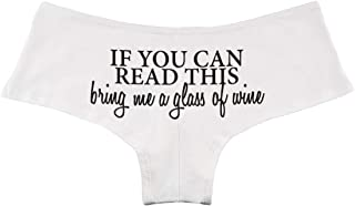 ee1da35745 Decal Serpent If You Can Read This Bring Me A Glass of Wine Funny Women s  Boyshort