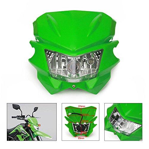 Universal Headlights Headlamp StreetFighter For Kawasaki KX125 KX250 KXF250 KXF450 KLX200 KLX250 KLX450 KX65 KX85 Dirt Bike Green
