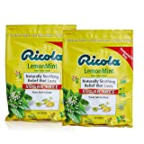 Ricola Sugar Free Lemon Mint Herbal Cough Suppressant Throat Drops, 105ct Bag (Pack of 2)