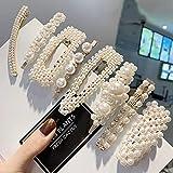 Prendedores para el cabello con perlas, 8 pcs. Perlas artificiales para el cabello. Perlas decorativas para el cabello. Accesorios para el cabello hechos a mano para niñas y mujeres,StyleSet6