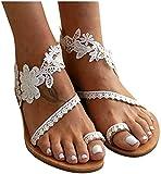 QAZW Sandalias de Cuña de Tacón Cómodo Cuñas de Paja Zapatos de Verano Zapatillas de Moda Baratas Casuales Sandalias Zapatos de Cuña,White-43