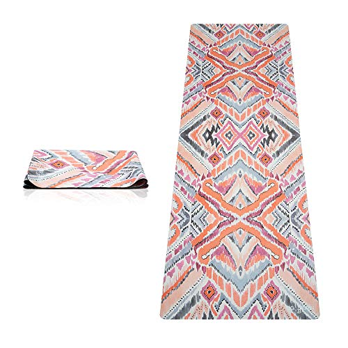 YOGA DESIGN LAB | The Travel Yoga Mat | 2-in-1 Mat+Towel | Lightweight, Foldable, Eco Luxury | Ideal for Hot Yoga, Bikram, Pilates, Barre, Sweat | 1mm Thick | Includes Carrying Strap! (Java)