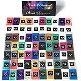 """BLACK DIAMOND PIGMENTS マイカ顔料ボックス1"""" (7バラエティパック)70-5Gパックの合計を含むゴースト顔料(エポキシ、スライム、樹脂、ソープ)"""