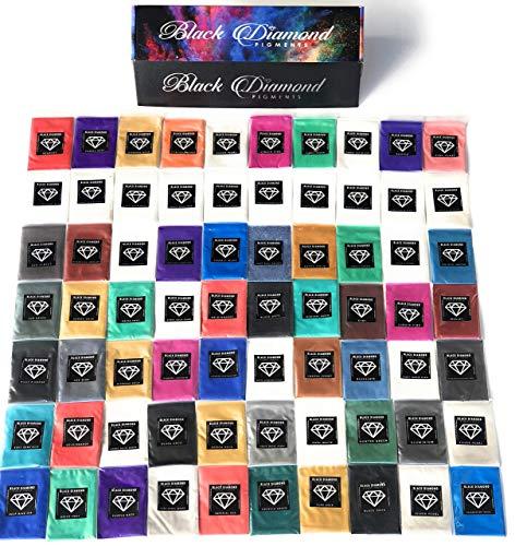 'MICA PIGMENT BOX 1' Please read the description (7 VARIETY PACK BUNDLE) 70-5g packs TOTAL including GHOST pigments (Epoxy,Slime,Resin,Soap) Black Diamond Pigments