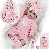 ZIYIUI 22 Pulgadas muñeca Reborn de Silicona Suave Vinilo Realista Lindo Bebe Reborn Girl 55cm muñeca de bebé Real Ojos Abiertos niño niña Juguetes