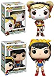Funko POP! DC Comics Bombshells: Harley Quinn + Wonder Woman - Vinyl Figure Set NEW...