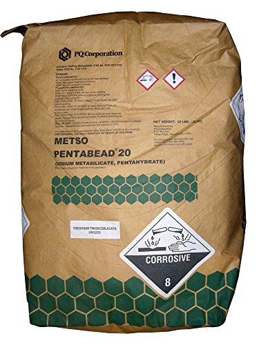 Sodium Metasilicate Pentahydrate [SiO3Na2.5H2O] [CAS_10213-79-3] Solid (50 Lbs Bag) by Wintersun Chemical