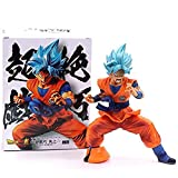 LJXGZY Dragon Ball Z Blue Hair Goku Super Saiyan God Brush Outbreak Cell Gohan Vegeta PVC Figura DBZ...