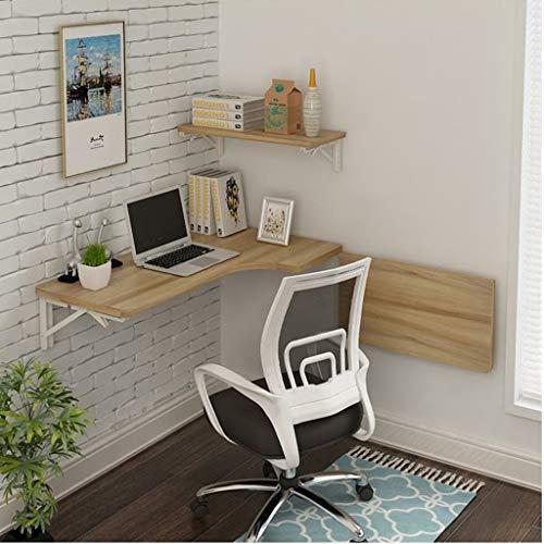 BinLZ die Ecke Passt Sich Jedem Raum An. Computertisch Wandtisch Klapptisch L-Förmiger Tisch an Der Wand Montierter Laptop-Schreibtisch Wand Hängender Tisch Größe des Lerntisches Optional, 100 * 60*