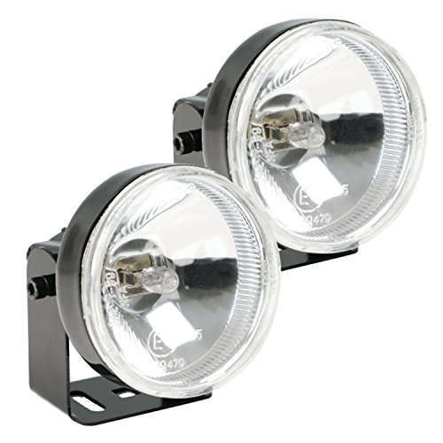 HELLA H71020051 Optilux 1300 Round Halogen Driving Lamp Kit, Black Housing, 12V/55W