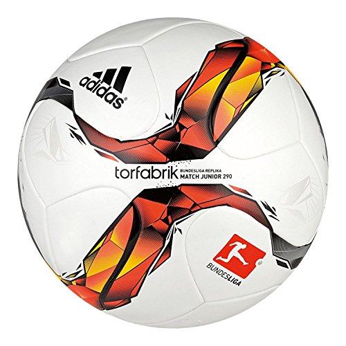 adidas Unisex - Kinder Fußball Torfabrik DFL Junior 290, white/solar red/black/solar orange, 5, S90208