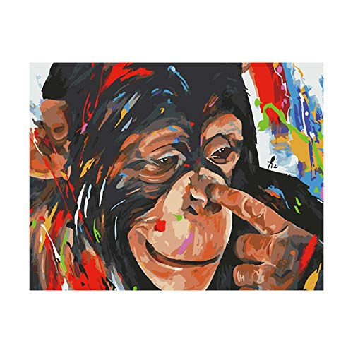 Art HD Prints Canvas Print Oil Paintings Reproduction Classic Artwork Pictures on Canvas Wall Art for Home Office Decorations-Animal apes(50x75cm) Frameless