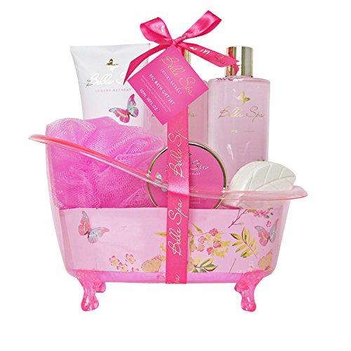 Coffret cadeau pour femme - Baignoire de bain rose incluant une lotion corporelle - Collection Belle SPA - Grenade