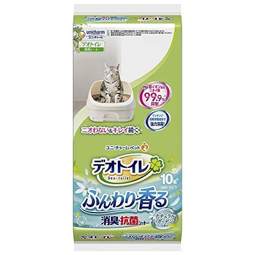 デオトイレ 1週間消臭・抗菌ふんわり香るシート ナチュラルガーデンの香り 10枚入り