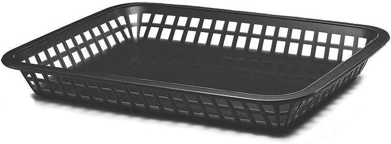 TableCraft 1079BK 11 3 4 Black Mas Grande Platter Basket Pack Of 12