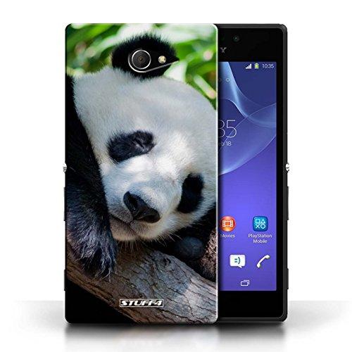 Hülle Für Sony Xperia M2 Wilde Tiere Pandabär Design Transparent Ultra Dünn Klar Hart Schutz Handyhülle Case