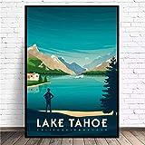 MINMIN Bild Druck Kunst Druck Poster Lake Tahoe Travel
