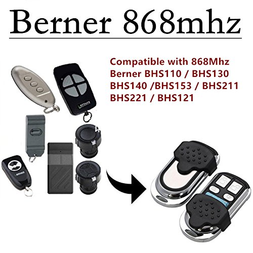 Kompatibel Mit BERNER BHS110/BHS121/BHS130/BHS 140/BHS153/BHS211 Garagentor Handsender Ersatz - 4 Kanal Kompatibel berner handsender bds Ersatz
