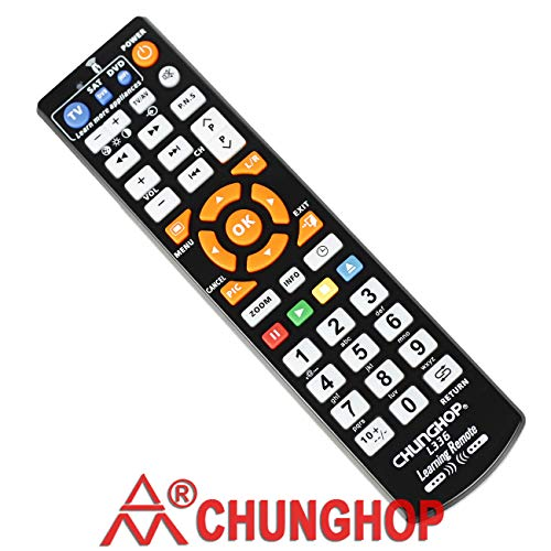 CHUNGHOP Universal IR Learning Remote Control for Smart TV VCR CBL DVD SAT STR-TV CD VCD HI-FI 3 in 1 Programmable Controller L336 with Learn Function