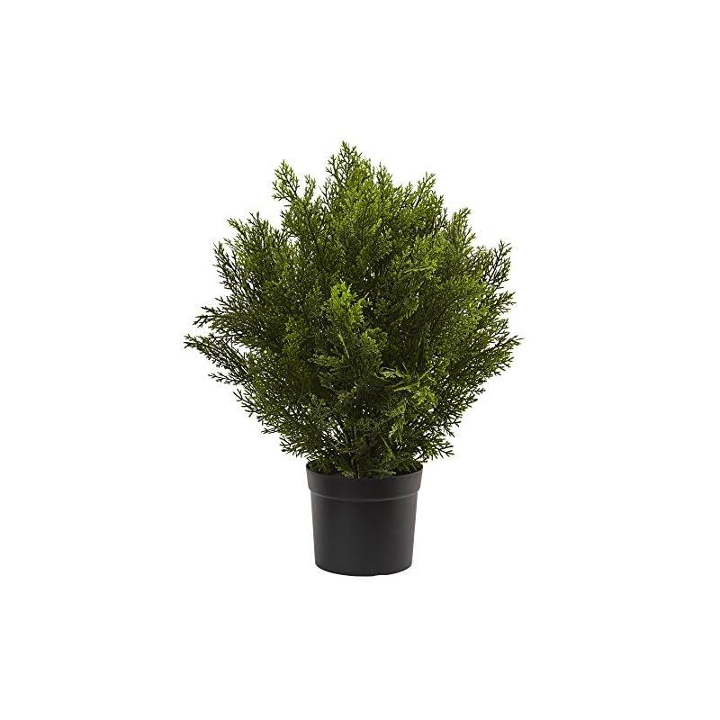 silk flower arrangements nearly natural 6880 2' cedar artificial bush (indoor/outdoor), green