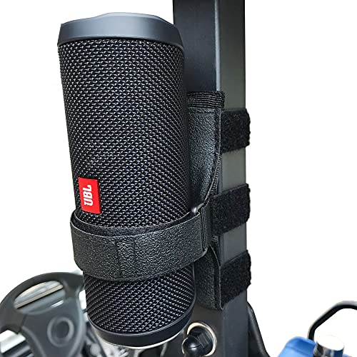 HomeMount Portable Speaker Mount for Golf Cart Accessories - Adjustable Strap Fits Bluetooth Wireless Speaker Strap...