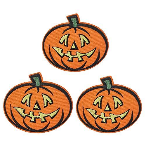 Punkin Halloween Jack O'Lantern Pumpkin Embroidered Iron on Sew on Patch Hat Pin