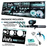 Steinhauser Dude Perfect Micro Series, 29.5' Telescopic Rod, 4.1:1 Ratio Reel, golfball Plug, Backer can Convert to Casting Game, Multi, One Size