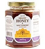 Organic Honey | Turmeric Elderberry Honey with Black Pepper | Super Honey | Honey for Tea | Eucalyptus Raw Honey | Ayurveda Inspired Indian Exotic Pure Honey