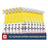 Amuchina Sgrassatore Spray Igienizzante al Limone, 12 Flaconi da 750 ML