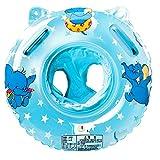 Swonuk Schwimmring Baby, Aufblasbare Schwimmhilfe mit Schwimmsitz aus PVC für Kleinkind 6 Monaten bis 3 Jahren (Blau)