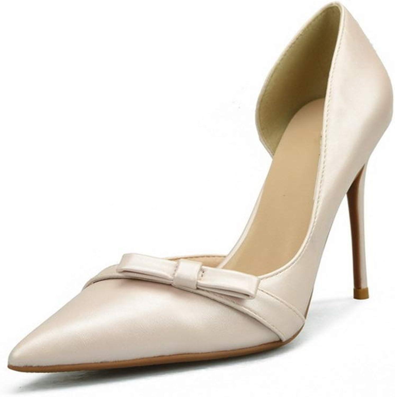 shoes Fashion Dorsay Pumps for Women High Stiletto Heels Side Cut Bowtie Vamp Classic Dress shoes for Ladies  Pointed, Classic Slip On Dress Pumps Comfortable