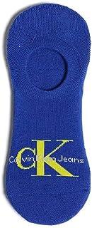 CALVIN KLEIN NON-SLIP HEEL LINER SOCK, BLUE, ONE SIZE, EU 40/46, UK 6.5/11