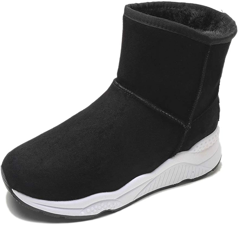 New Snow Boots Women's Booties Student Casual Plus Velvet Warm Cotton shoes