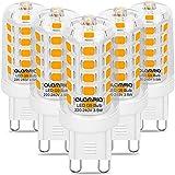 G9 LED Lampe 40W Warmweiß 3000K Leuchtmittel, 5 Stück mit 160 LEDs 400 Lumens Warmweiss Licht, Ersetz 40W G9 Halogen Lampen, G9 Glühbirne mit Norm Pin G9 Sockel, Kein Flackern Langlebig G9 Birnen
