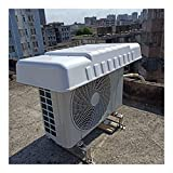 LSXIAO Outdoor Window Air Conditioning Cover, AC Unit Cover, Waterproof Anti-UV Sun Shade Suitable for Mini Split Heat Pump, Condenser, Compressor (Color : White, Size : 96x46x16cm)