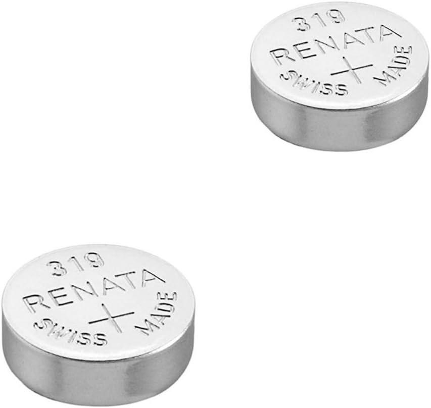2 pilas Renata para reloj de pulsera, fabricación suiza, de dióxido de plata, sin mercurio, 1,55 V, larga vida útil
