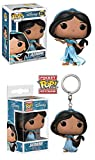 Funko POP! Aladdin: Jasmine + Jasmine Pocket POP! Keychain – Disney Stylized Vinyl Figure Set NEW