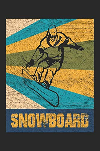 Snowboard: Snowboard Notebook Blank Dot Grid Snowboarding Journal dotted with dots 6x9 120 Pages Checklist Record Book Snowboarder Take Notes Winter ... Women Kids Christmas Gift Snowboarder Boarder