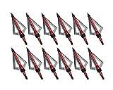 1Dozen 100Grain Fixed 3Blades Broadheads Archery Field...