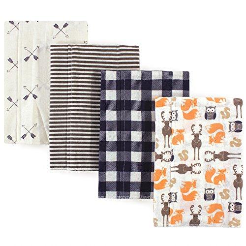Hudson Baby Unisex Baby Cotton Flannel Burp Cloths...