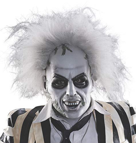 Rubie's Kostüm Herren Beetlejuice Overhead Latex Maske mit Haar - - Einheitsgröße