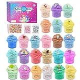 Paquete de 24 mini manteca perfumada de limo, caramelo y fruta de los animales del arco iris, súper elástico y antiadherente, juguete para aliviar el estrés para niñas y niños
