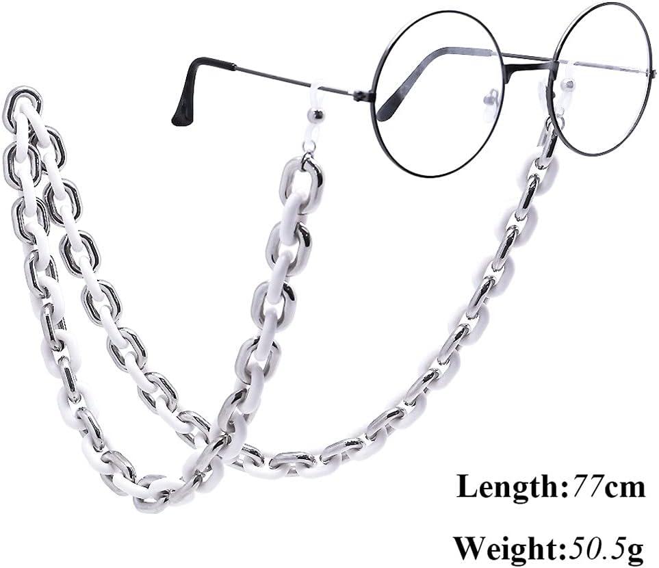 YFQHDD Acrylic Glasses Chain for Women Sunglasses Holder Eyeglasses Lanyards Eyewear Glasses Rope Neck Strap (Color : B)