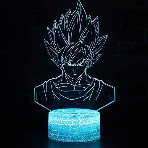 Nachtlampje God Action figuren Illusie 3D tafellamp 7 kleuren nachtlampje jongens kindergeschenken voor baby (kleur: Touch 7 kleur)