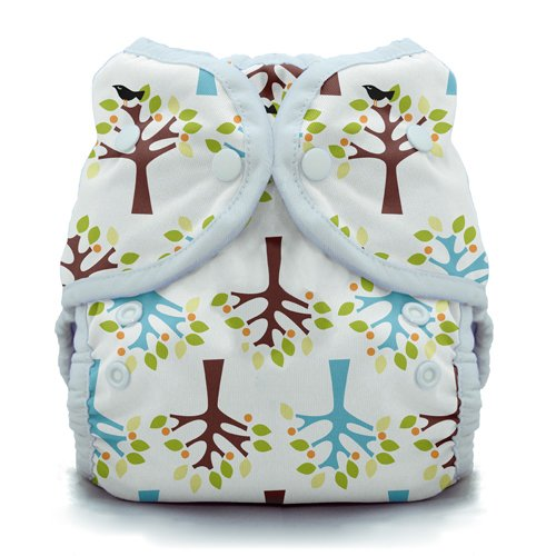Duo Wrap Snap Diaper in Blackbird Size 1